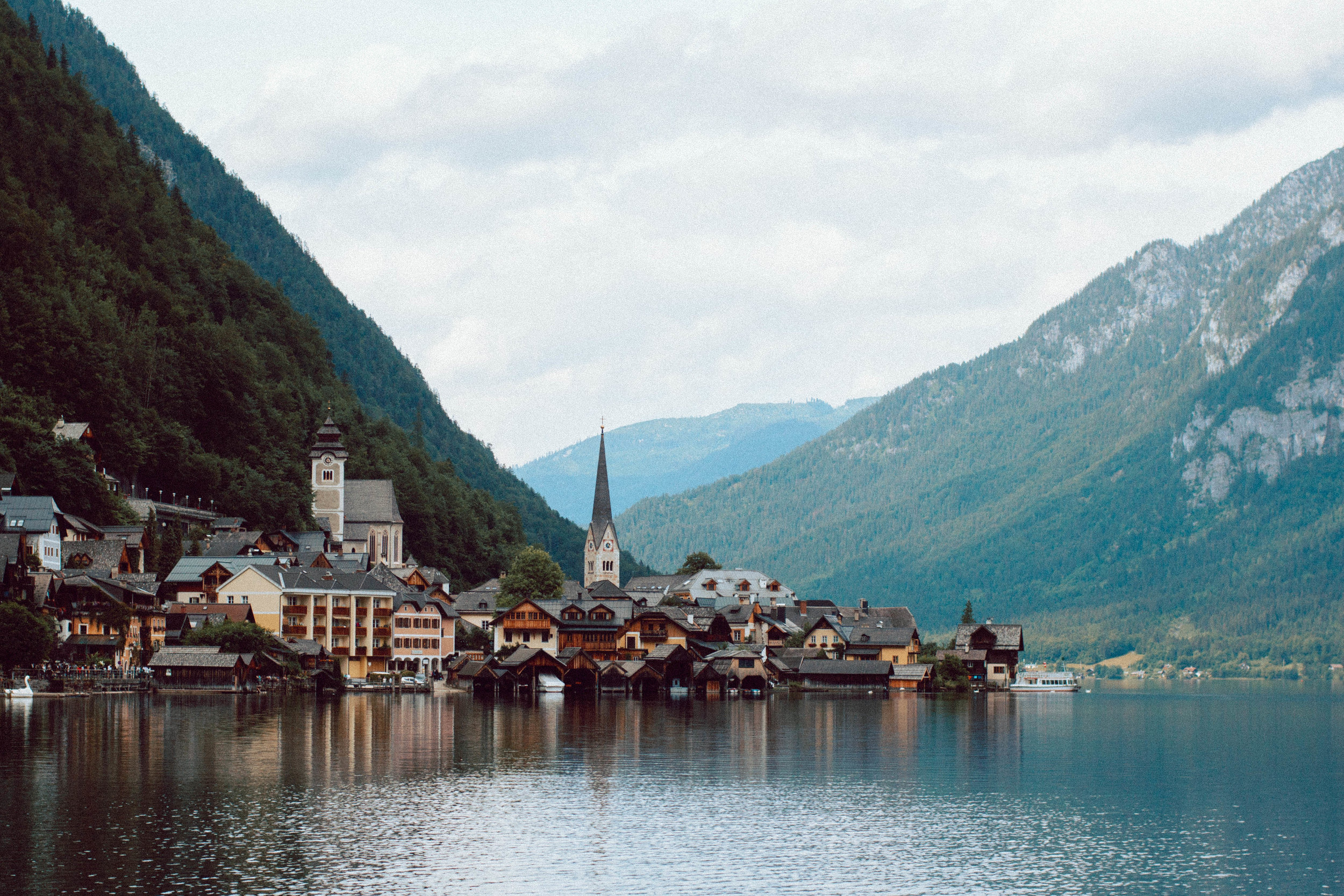 The 'famous' Hallstatt postcard shot.