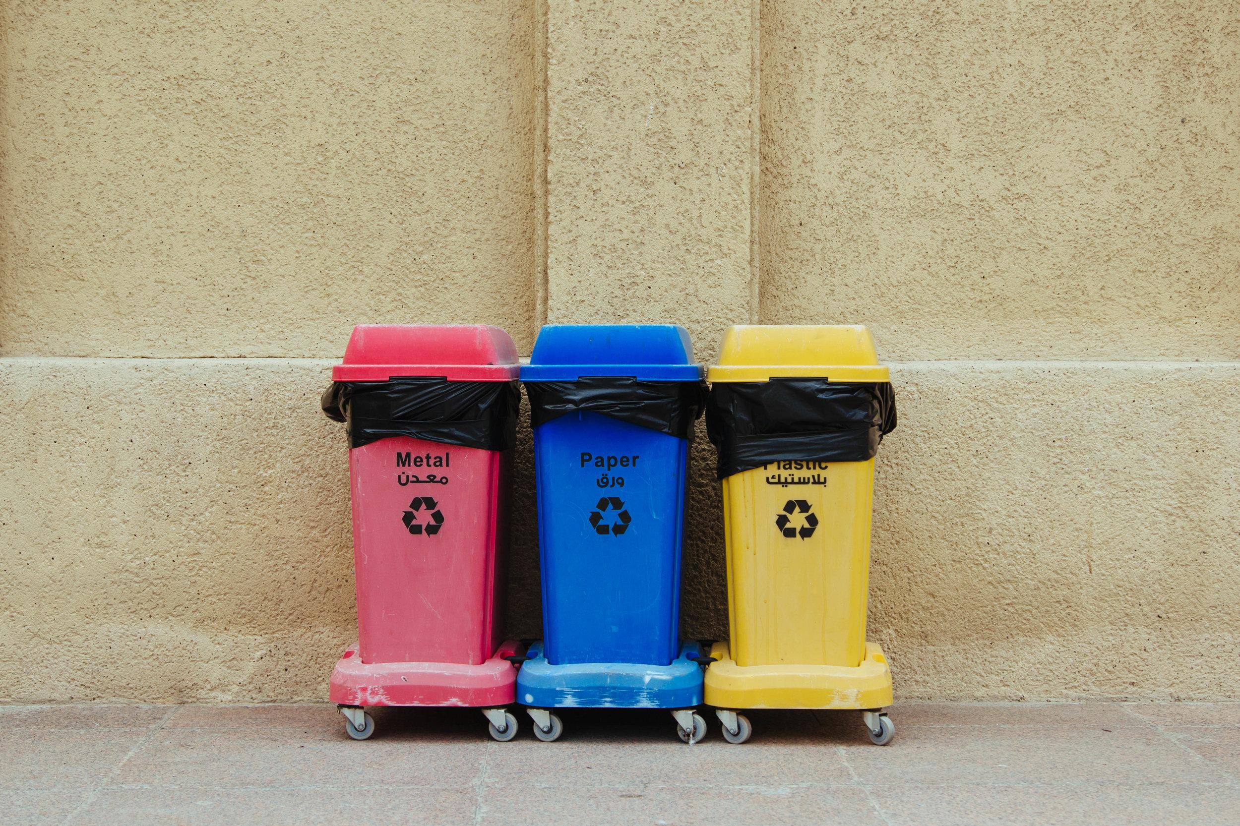 Garbage rubbish bins