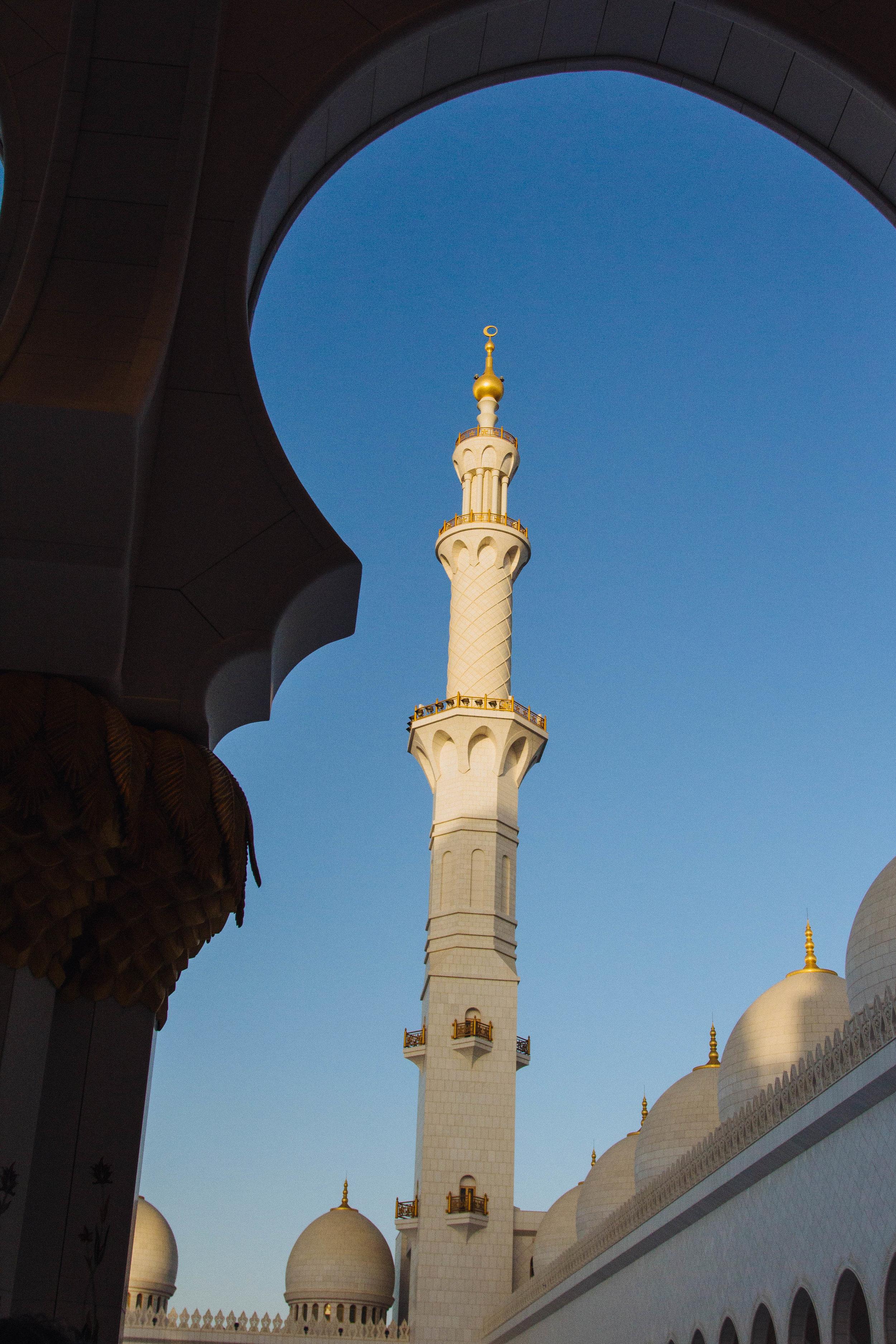 minaret abu dhubi masjid