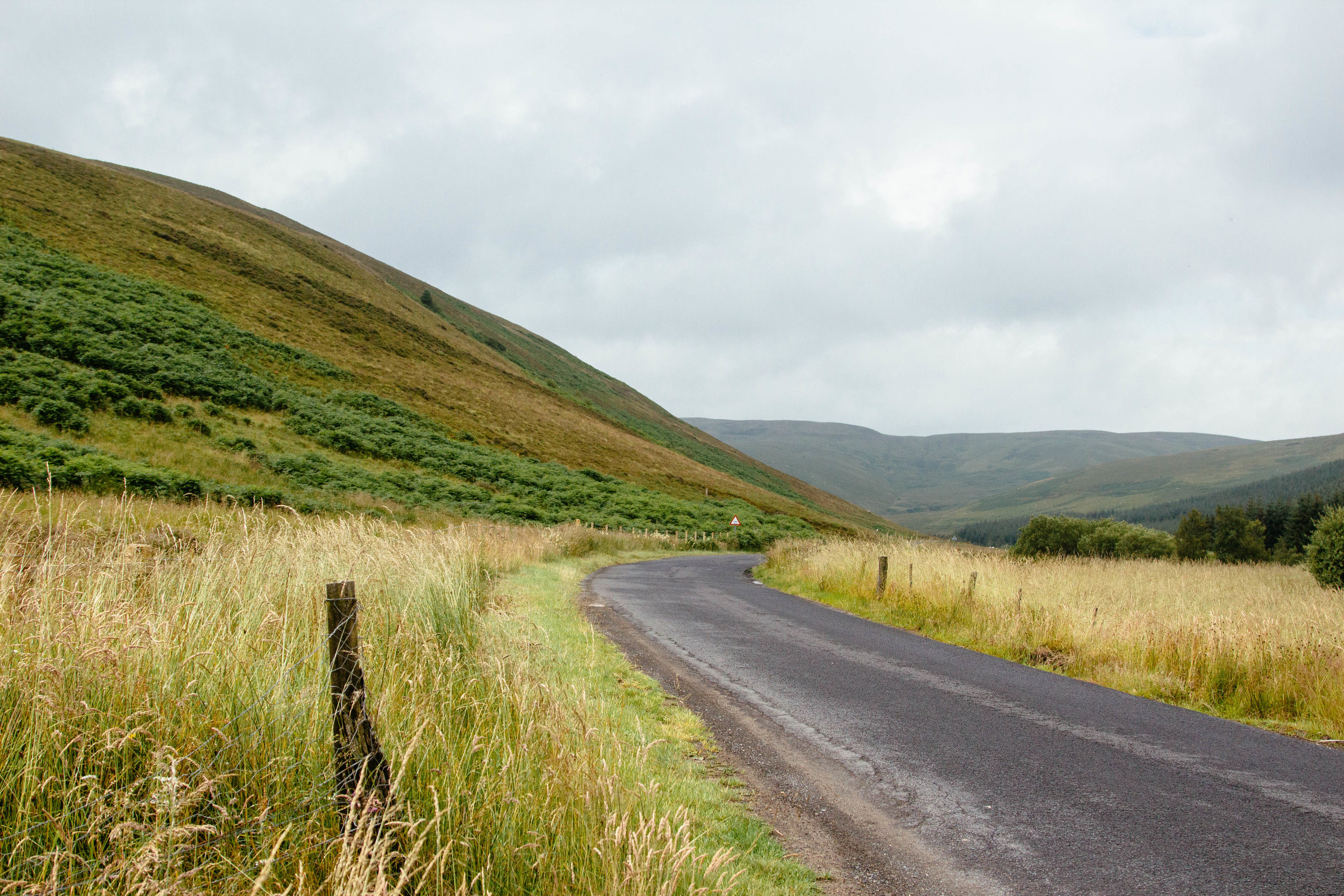 A final glimpse of the Scottish Borders before getting on the motorway