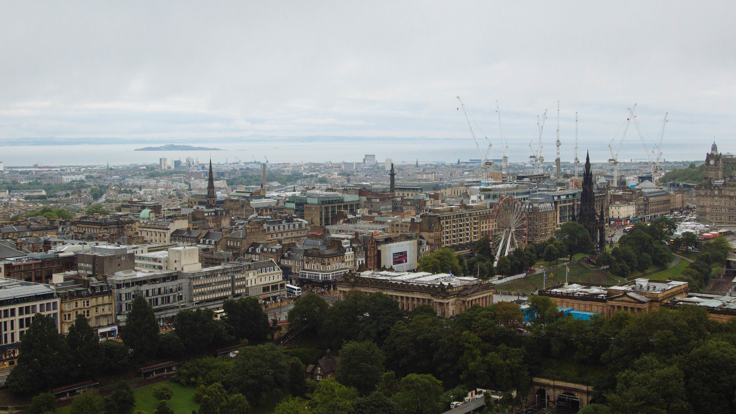 View of city skyline from Edinburgh Castle