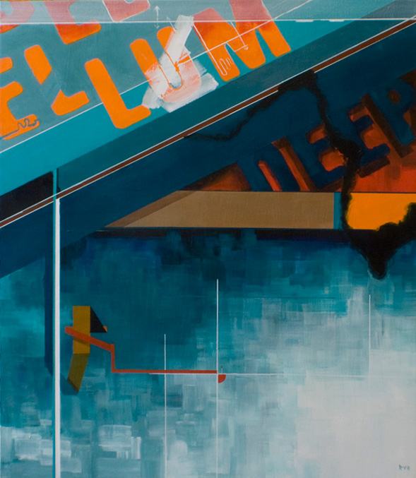 """DEPP ELLUM INTERSECTIONS 21""""x24"""". ACRYLIC ON CANVAS (SOLD - COMMISSION)"""