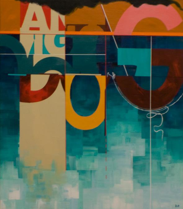 """THE BIG DOG 21""""x24"""". ACRYLIC ON CANVAS (SOLD - COMMISSION)"""