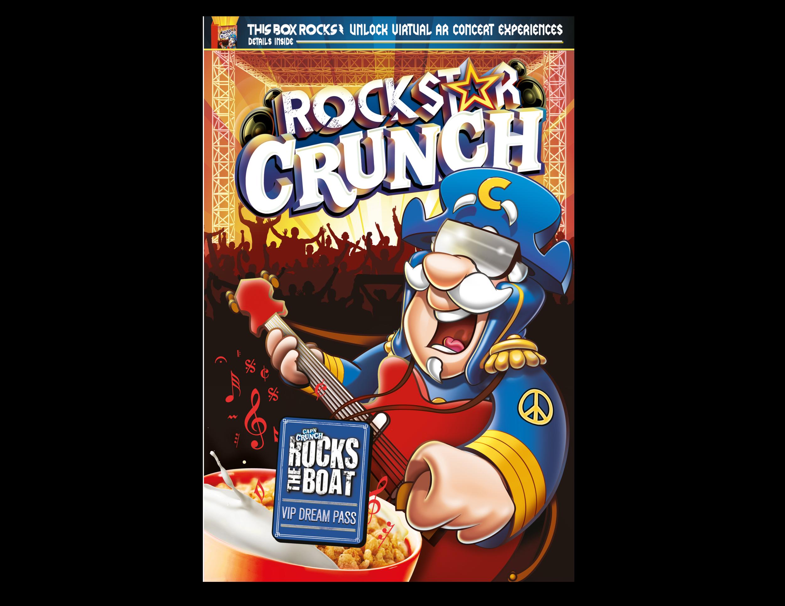 CAP'N CRUNCH ROCKSTAR CRUNCH ROCKS THE BOAT PROMOTION (CONCEPT / CUSTOM ILLUSTRATION)