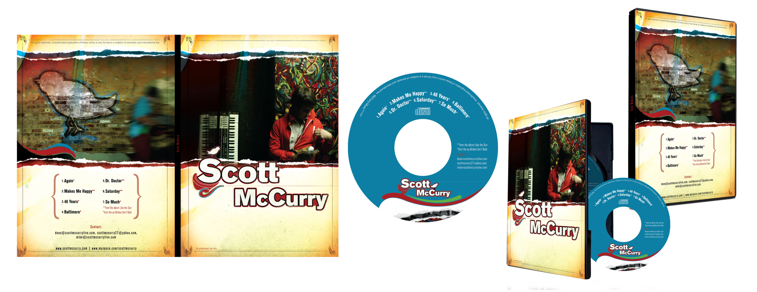 SCOTT MCCURRY BIRDIES DON'T BARK PROMOTIONAL DVD {DESIGN, PHOTOGRAPHY AND ILLUSTRATION}