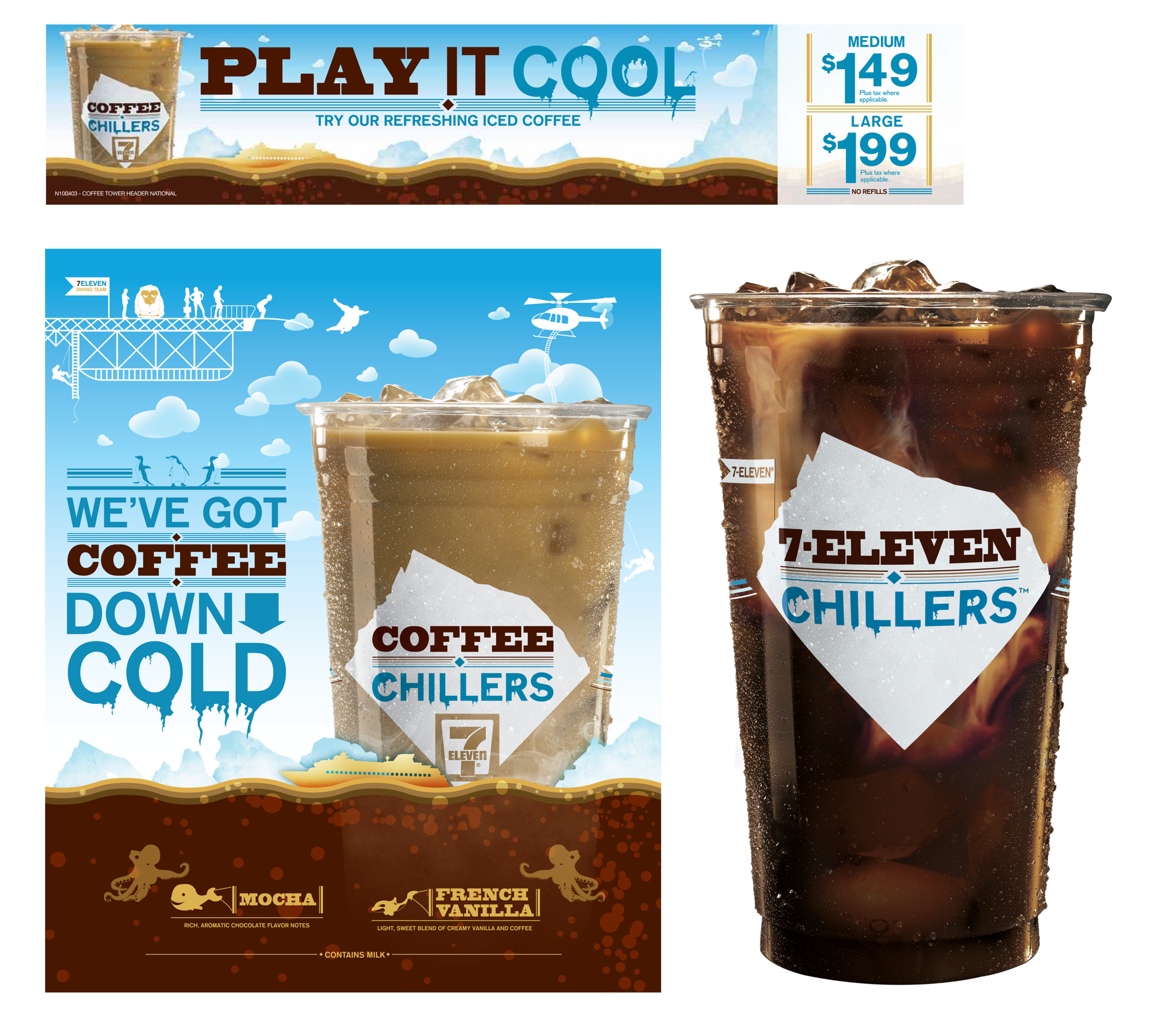 ICED COFFEE TRANSLITE, PRICE CARD AND PACKAGING