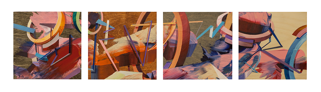 "THE TUNNEL 24""x6"". ACRYLIC ON WOOD (SOLD)"