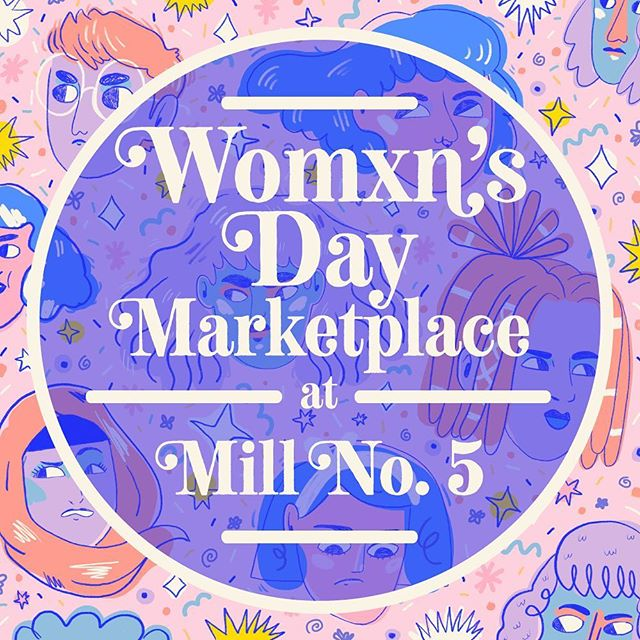 This Saturday, March 9th from I'll be @millno5 from 12-4pm for the Womxn's Day Marketplace hosted by @crosenestcollective and @dandeliondistrict! I'm so excited to be a part of this event celebrating womxn makers and artists alongside some of my favorite local small businesses. Also loving the use of my art for the event promo!✨ 💘💘💘 Hope you can make it!