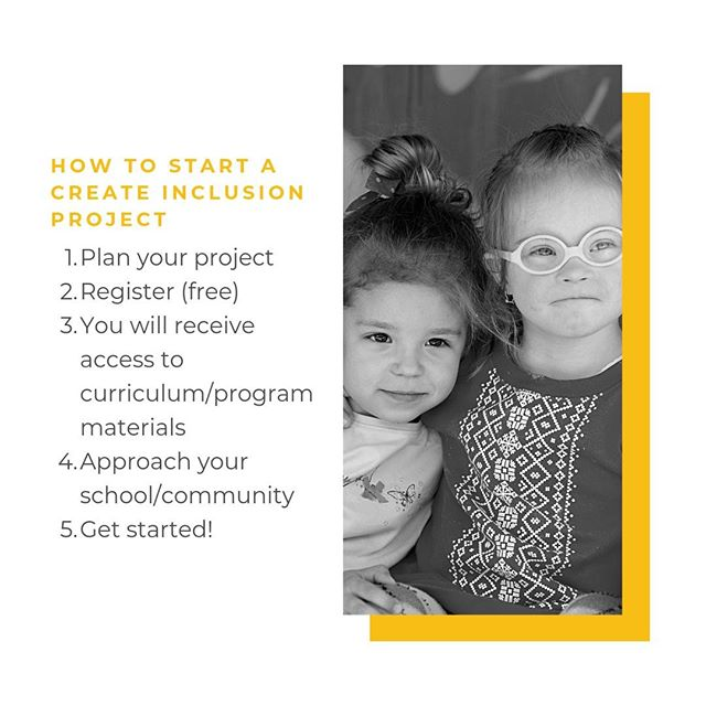 It's easy to start a Create Inclusion Project in your community! Come up with an idea, register with Score A Friend, and get started to make your community a more inclusive place. #2020inclusion #scoreafriend #inclusion #abilityinclusion #howto #project #leadership #service