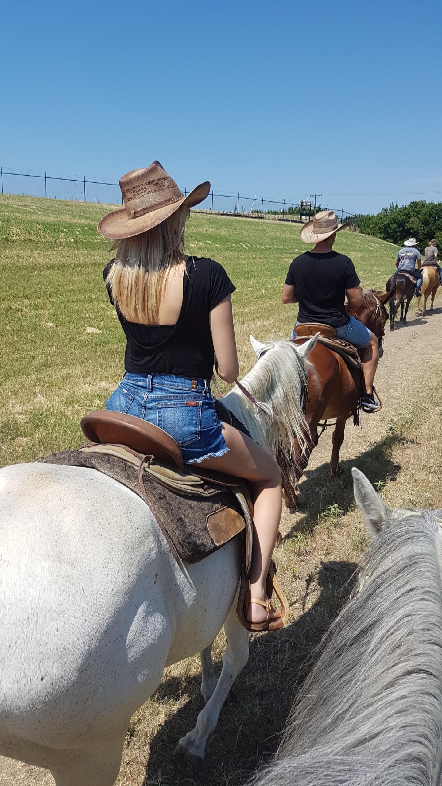 Trail Riding Stockyards Fort Worth Texas.JPG