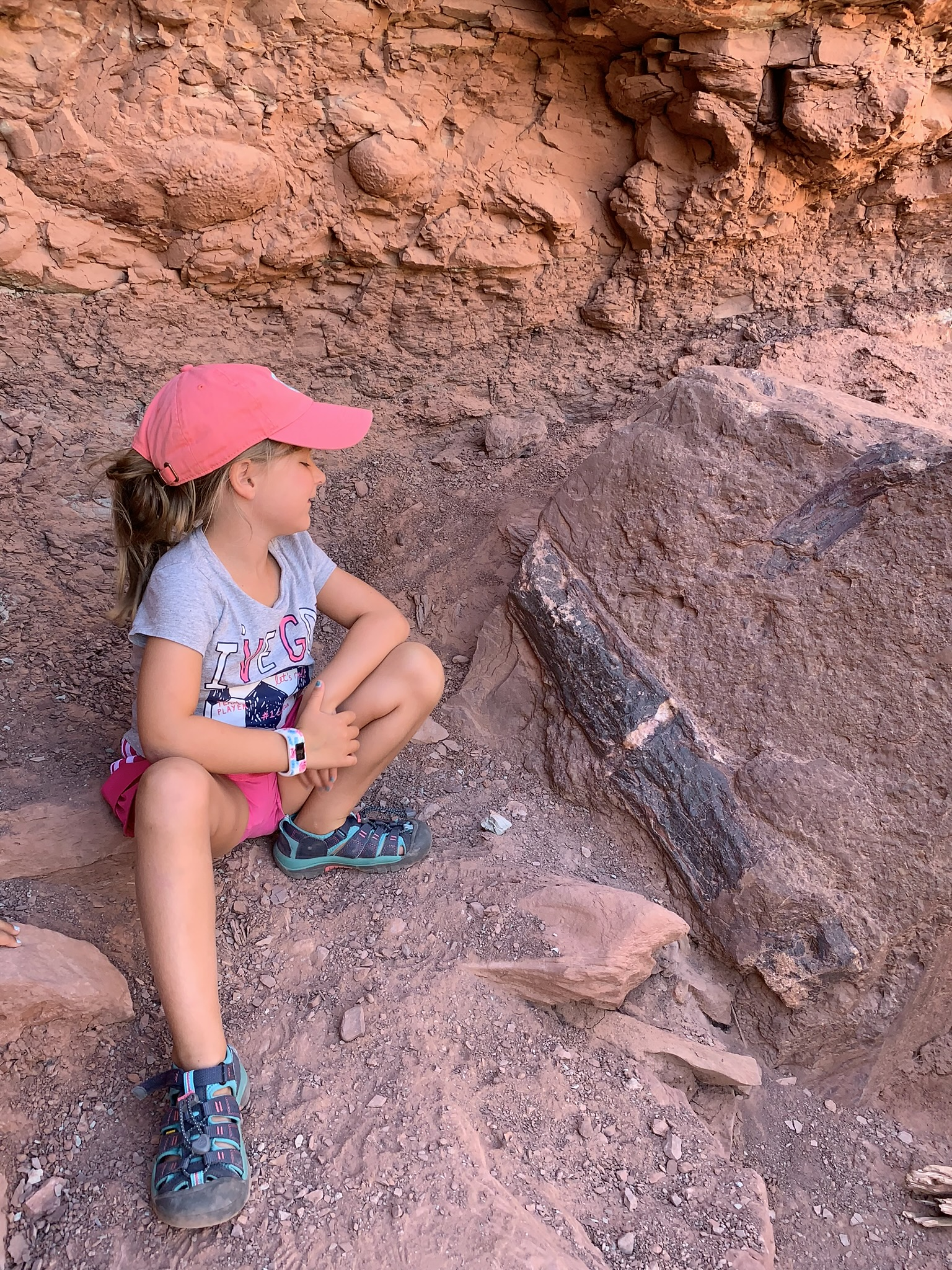 """Favorite FAct they learned - Mackenzie-""""How long ago the land was created and that Canyonlands still has so much salt."""" Hailey-""""What kind of animals live in each park. I liked finding different lizards. AND finding real dinosaur bones and shell fossils."""""""