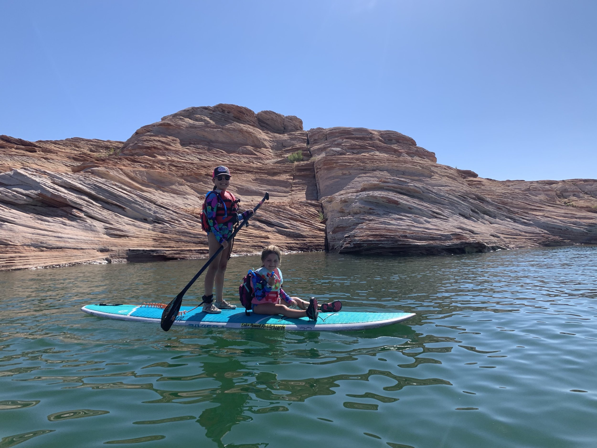 Favorite water activity - This was a tie…. Whitewater rafting on the Colorado River and paddle boarding on Lake Powell through the Antelope Slot Canyon