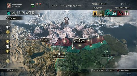 The faction map, which gaining or losing territory is meaningless and doesn't affect the matches in any way.