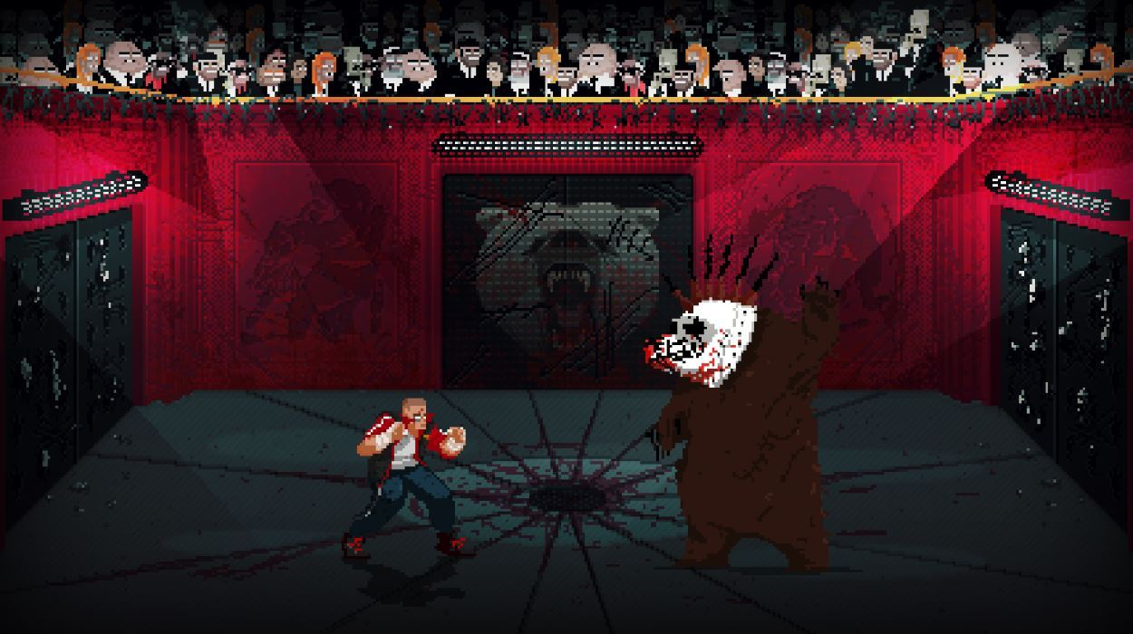 One of the boss fights involve you fighting a drugged-up bear.
