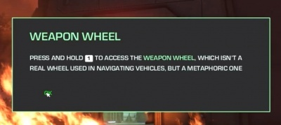 Despite the humor, the weapon wheel was a pain to my side.