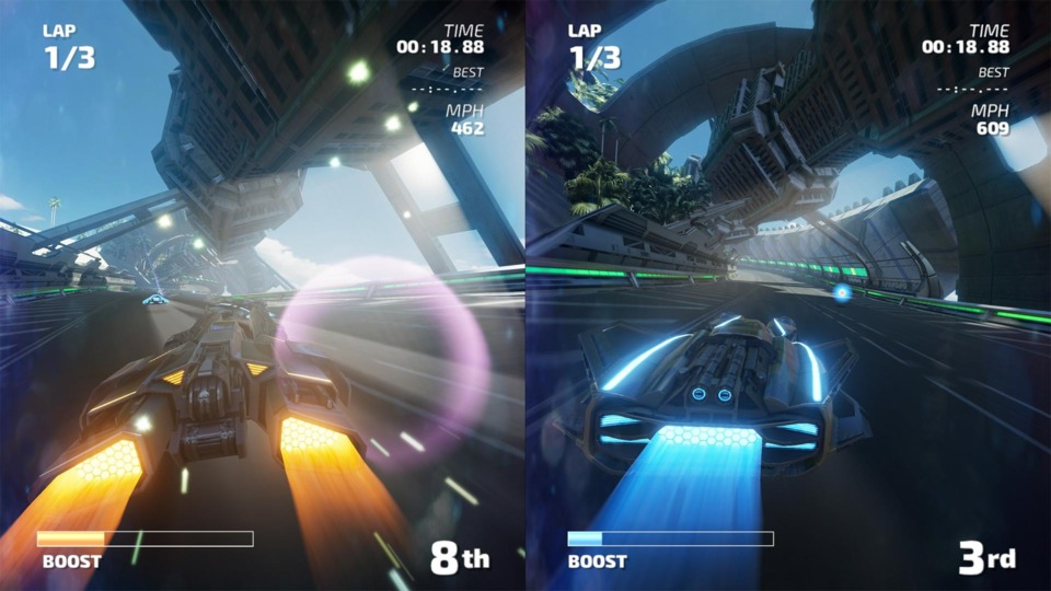 Split-Screen, where gameplay is at its funnest. All while looking pretty and running smoothly on both tv and tablet mode.