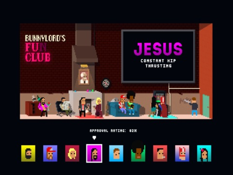 The character selection menu.