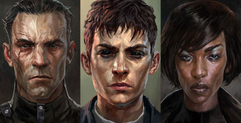 Daud (left),The Outsider (middle), and Billie Lurk (right).