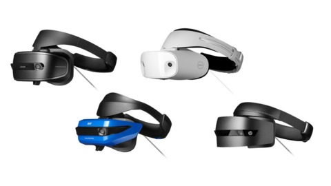 The four headsets currently on the market.