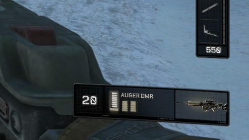 How much ammo do I have left? The number and the bigger bar is how much is in the magazine.