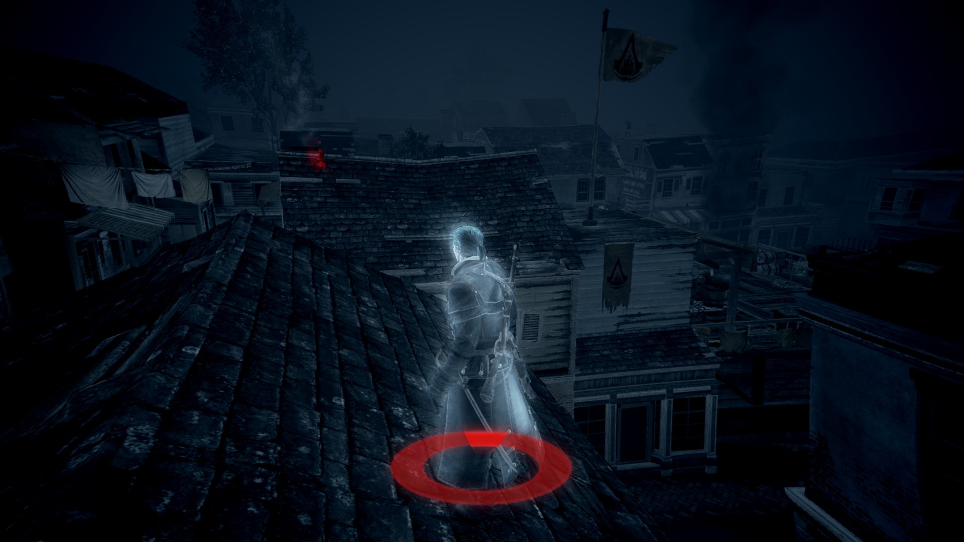 The circle at the bottom would show how close a stalker is.