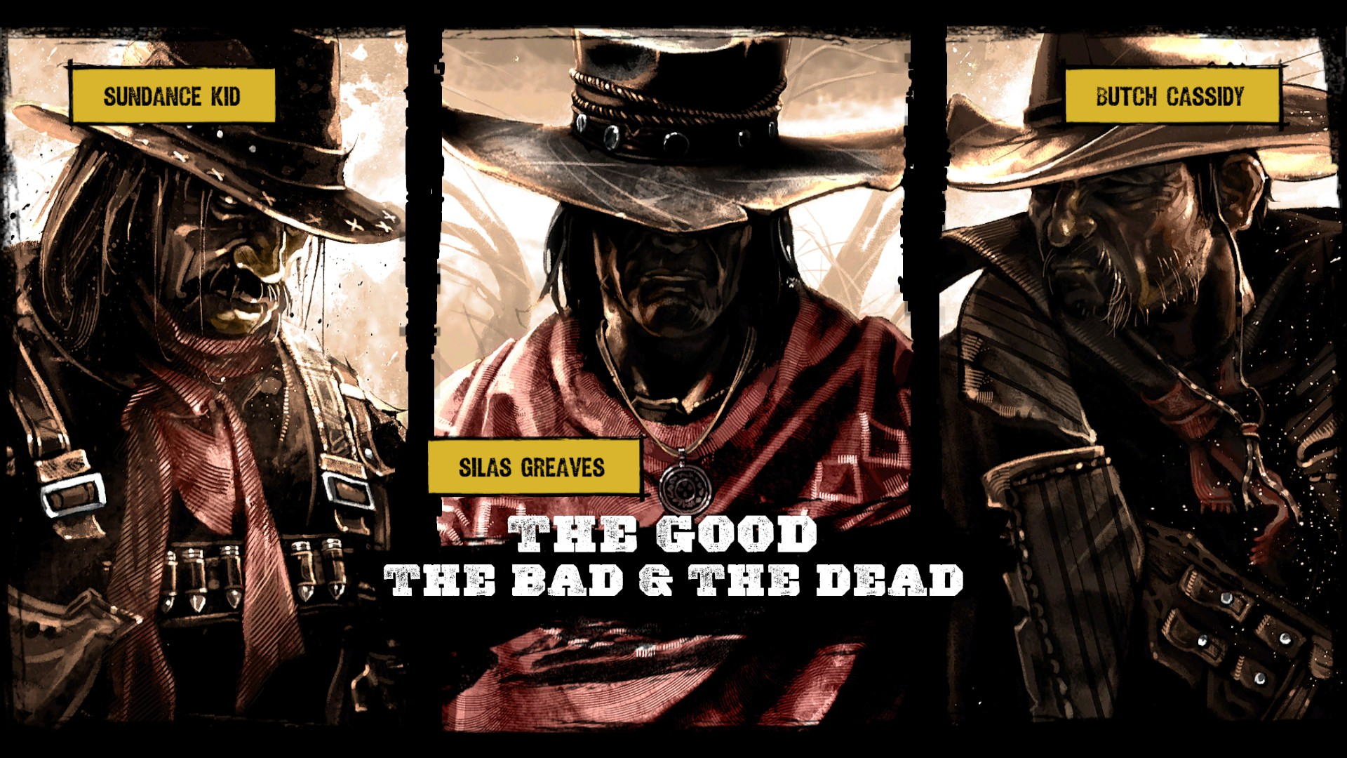 The comic book style is unique for this…I'm sorry, but is this  Butch Cassidy and the Sundance Kid  AND  The Good, The Bad, and the Ugly ?!