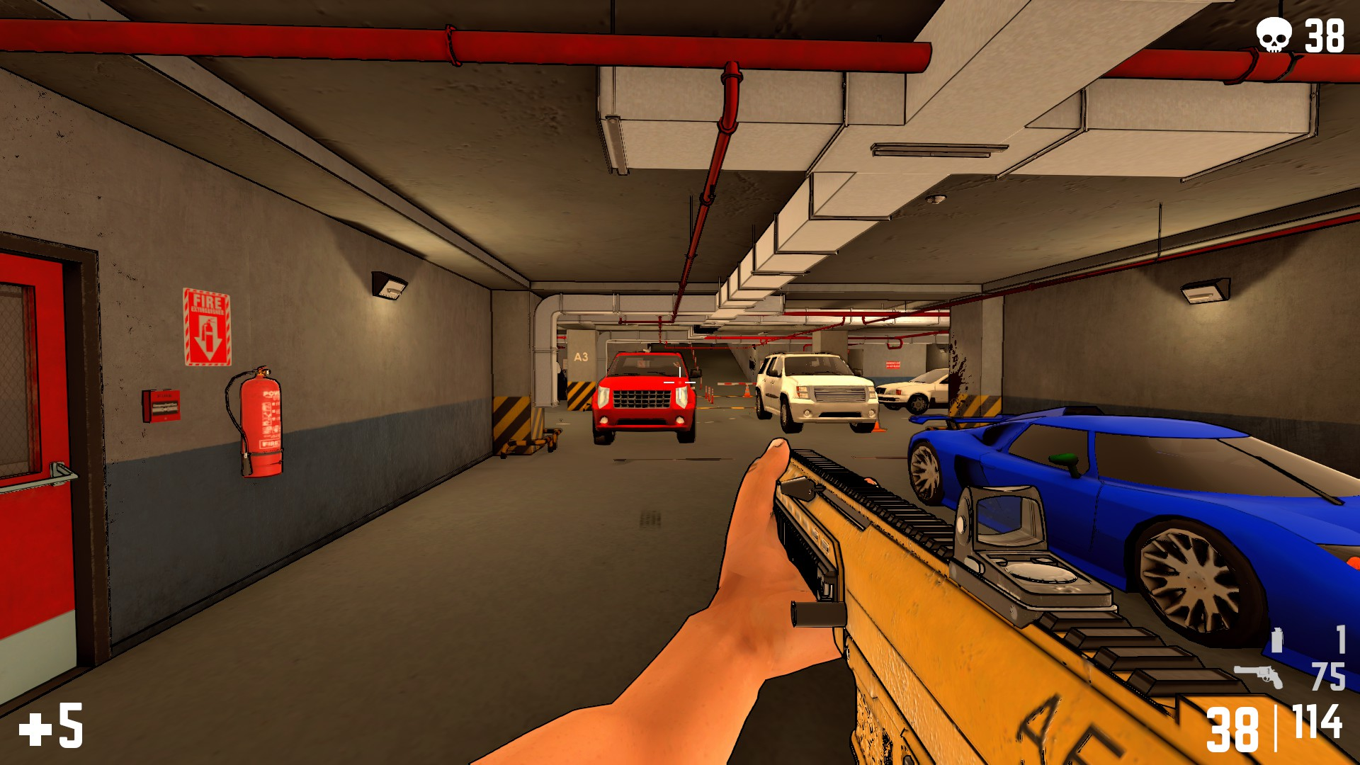 Parking garage, one of the two maps in the horde mode.