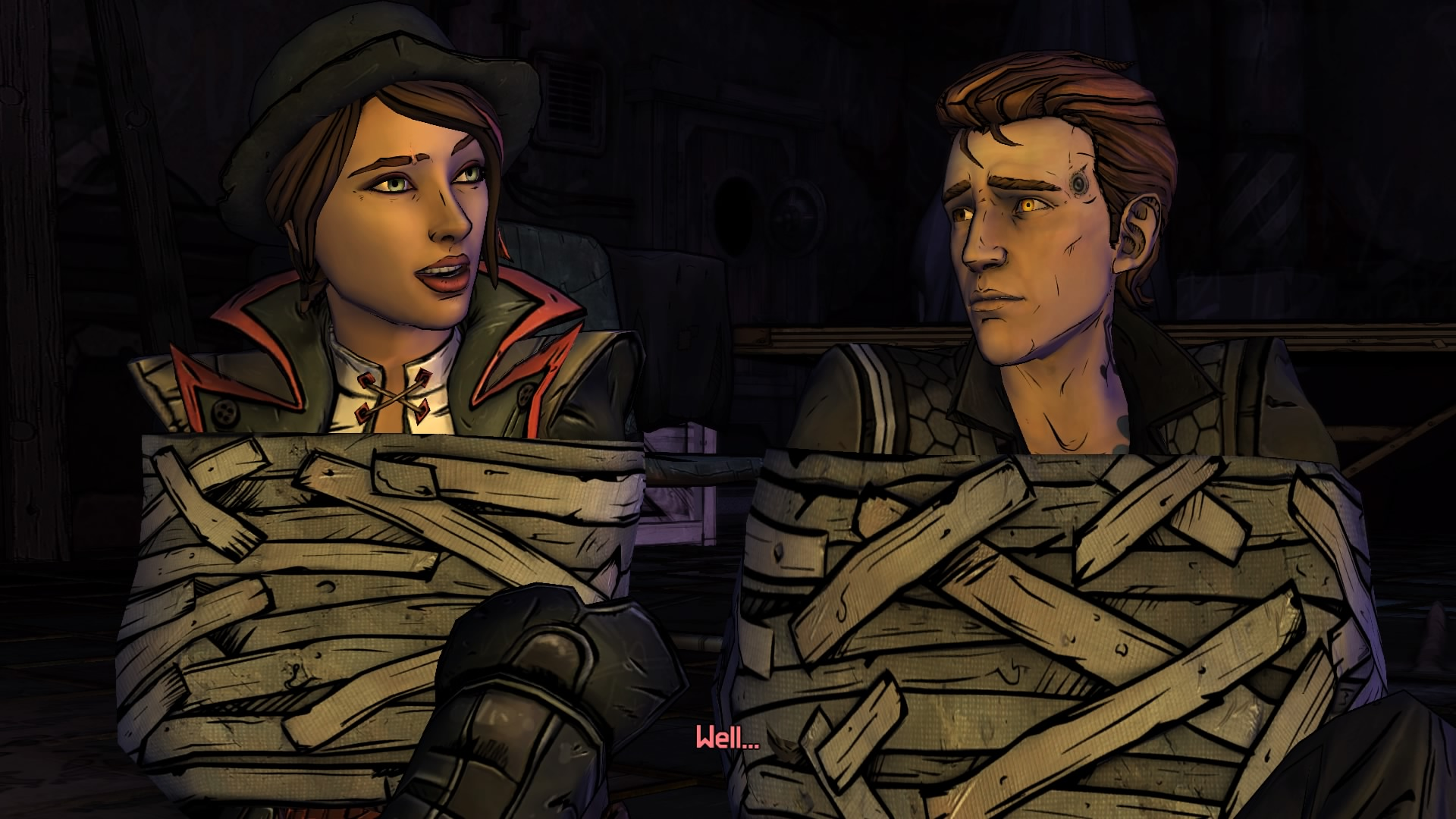 Fiona and Rhys, the two characters you play as throughout the game.