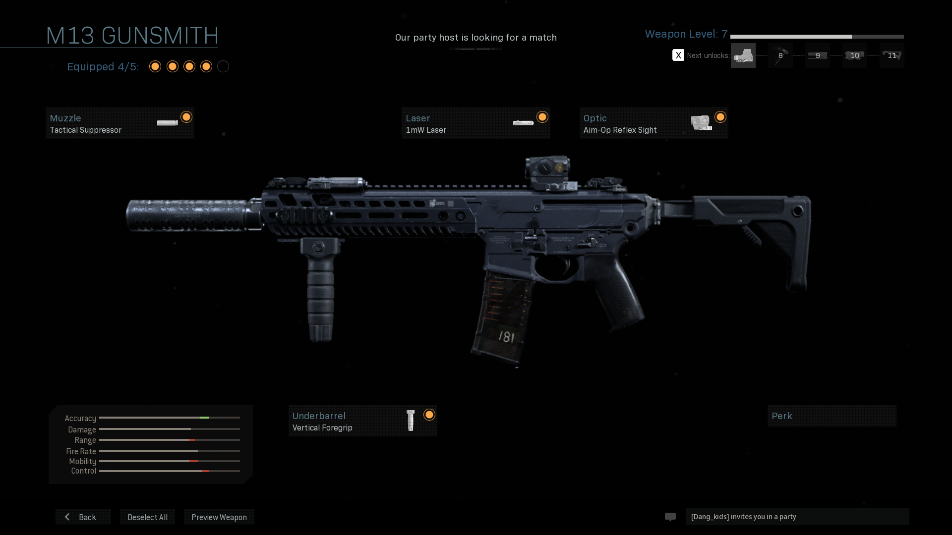 As you level up, more and more attachments become visible to unlock and use for the weapon.