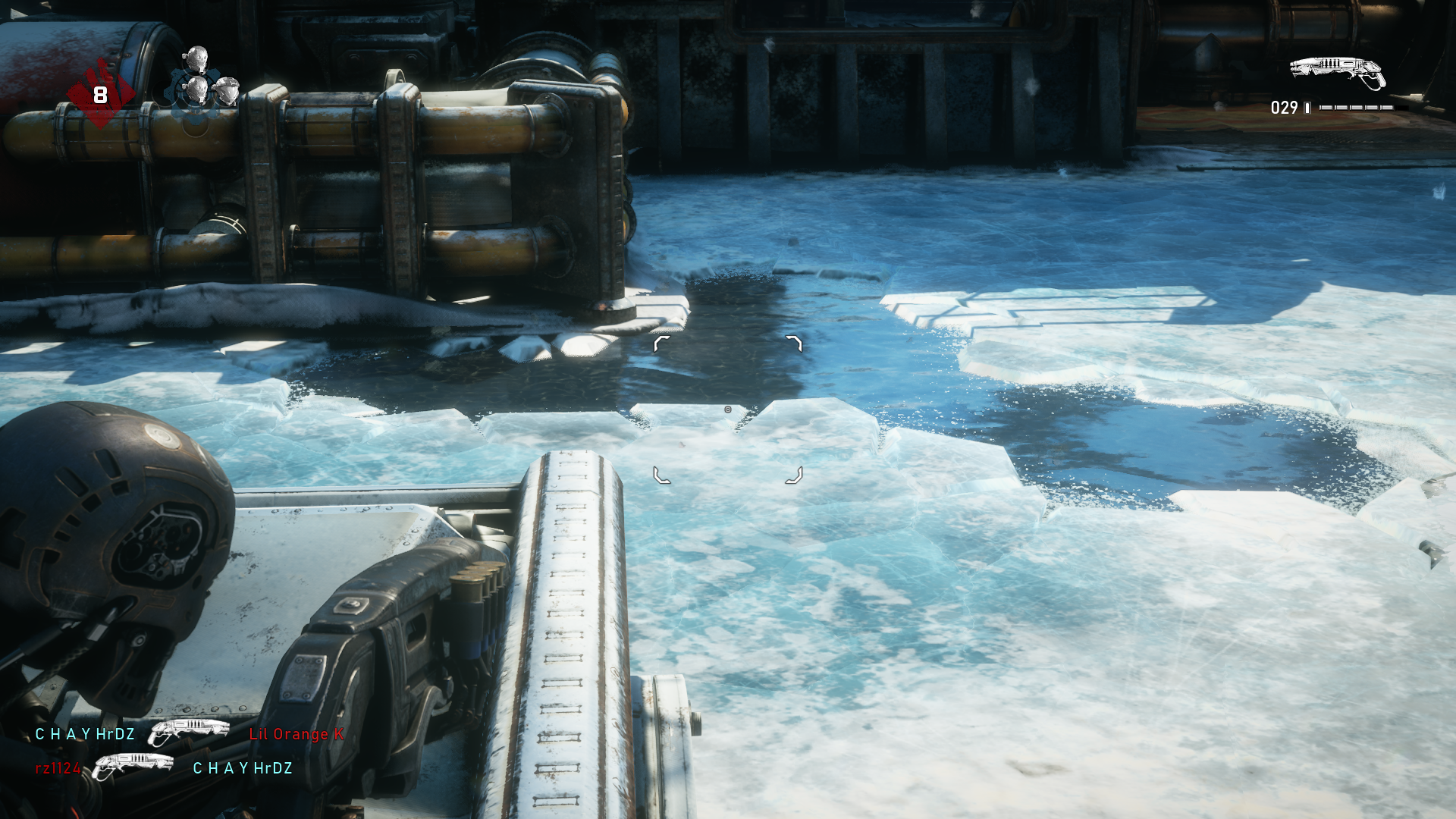 A few of the maps are dynamic, like the ice being able to be broken in Icebound.