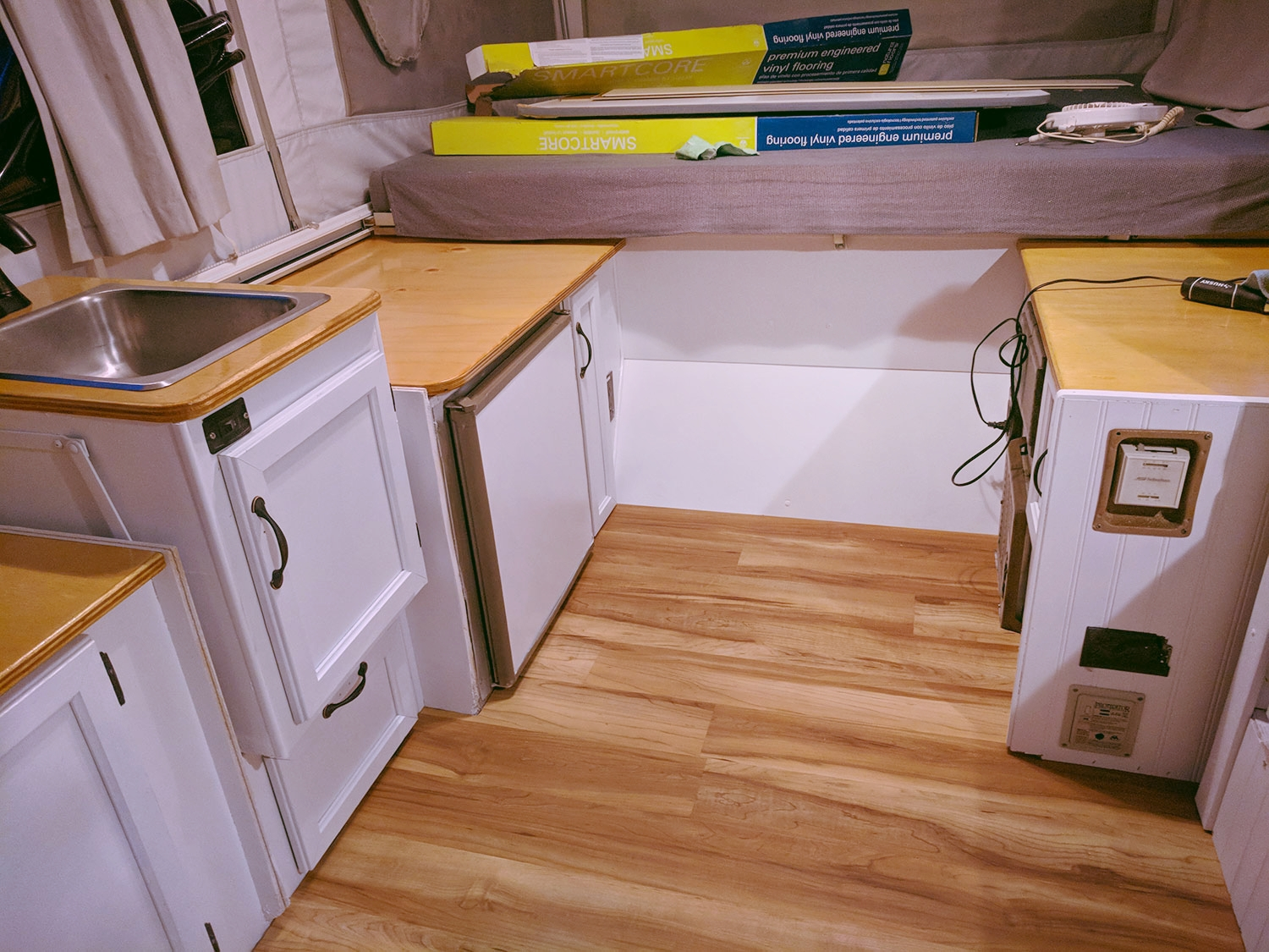 """An """"in progress"""" interior shot of  the Diane  - things are really starting to come together."""