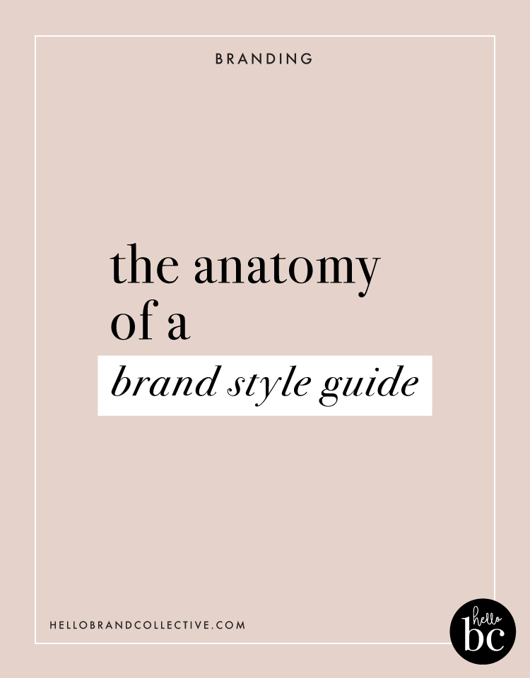 Hello Brand Collective | The Anatomy Of A Brand Style Guide