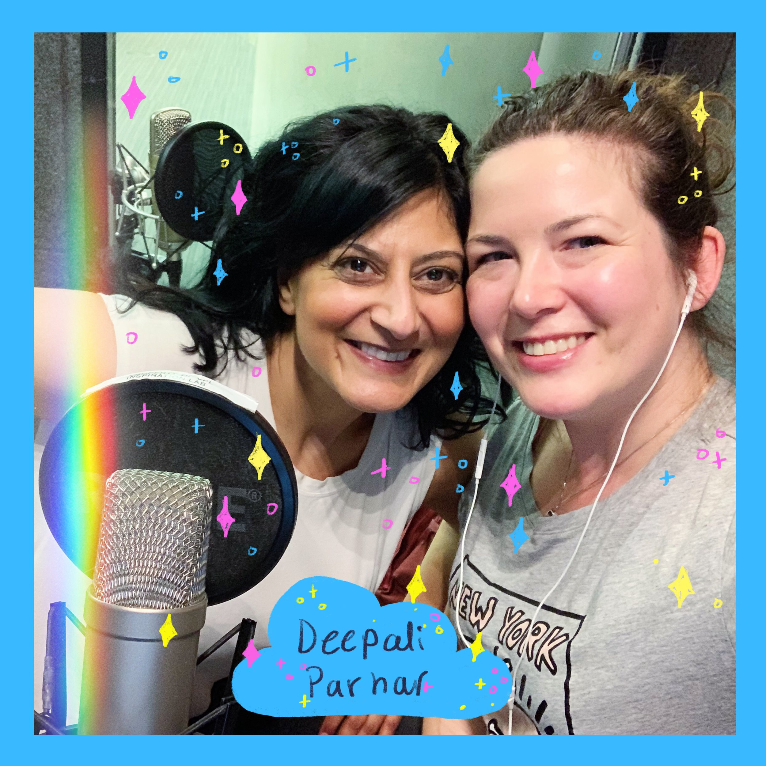 Deepali bringing her sparkling voice and personality to my first official podcast episode recording!