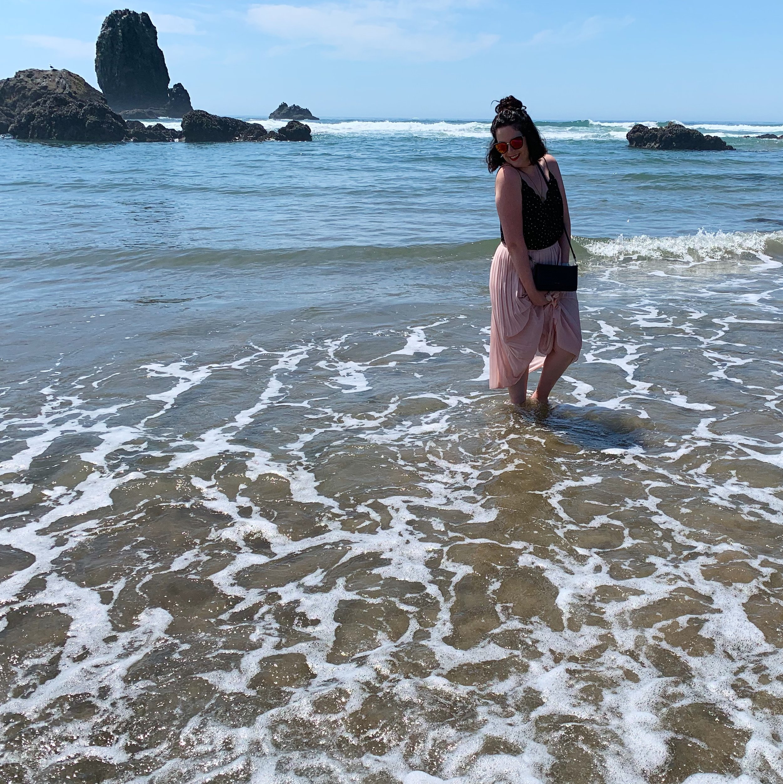 Jess at Cannon Beach, OR - Photo by Graham Cook