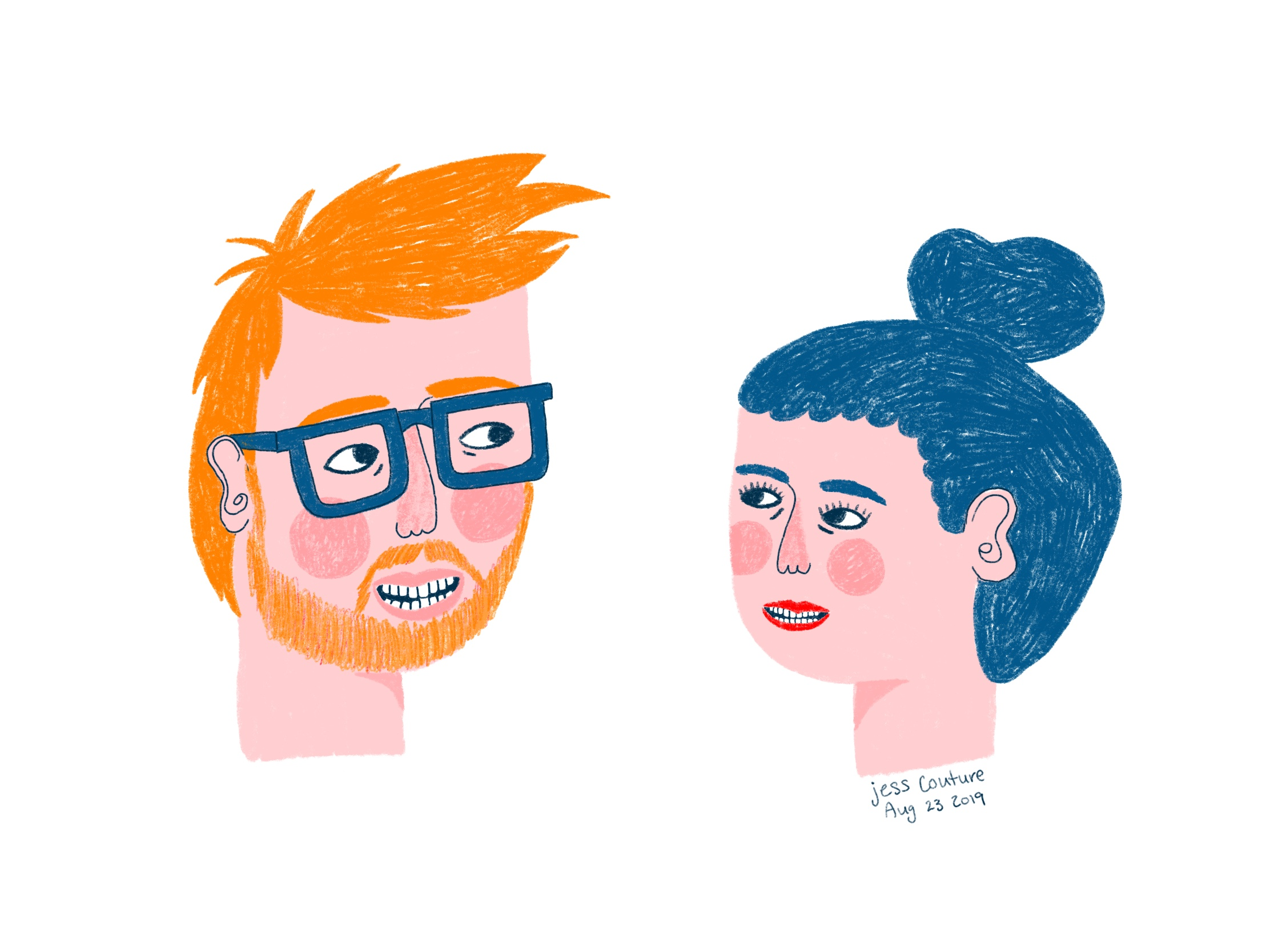 Find you a partner who looks at you the way illustrated me looks at illustrated Graham.