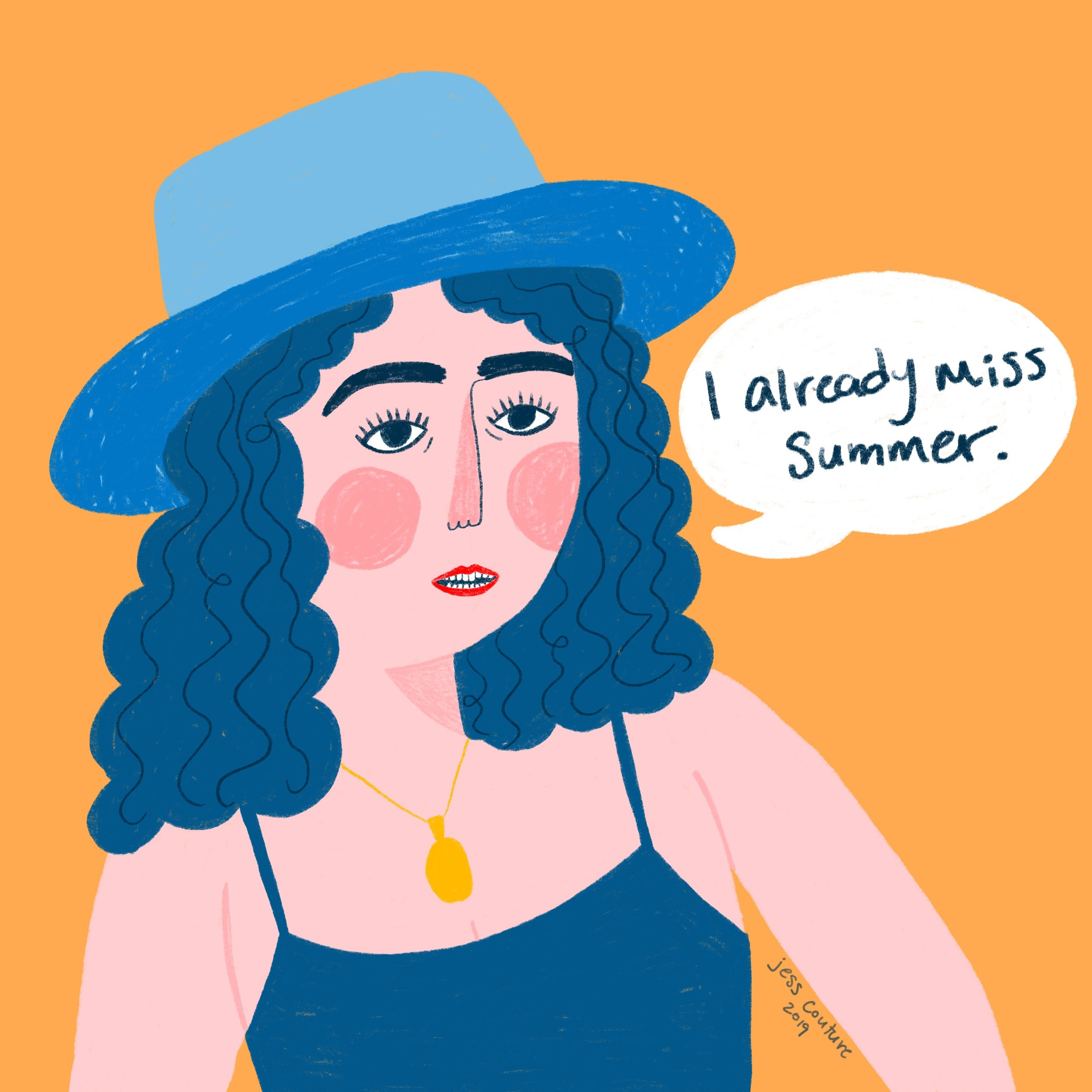 A self portrait where I am not sure how to feel about it being September already.