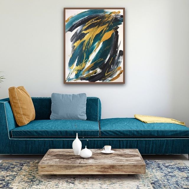 H a P p Y  t U e S d A y! . . It's cloudy in Houston today and I'd love nothing more than to curl up on this beautiful sofa with a good book! How about you? . . Untitled Abstract by Shanna Gerberman . . #abstractart #abstractpainting #painting #tuesday #tuesdaymorning #givegodtheglory #artista #artistsoninstagram #artistic #artist #instaart #instaartist #modernhomedecor #houstoninteriordesign #interiorstyling #modernart #contemporaryart #abstractartist #shannagerbermanart #flashesofdelight #postitfortheaesthetic #contemporaryhome #houstonartist #houston #painter #artforsale #commissionsopen #workingartist #artstudio #southernartist