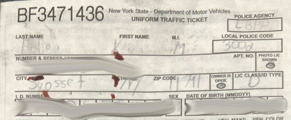 kevin holian ticket blood stains