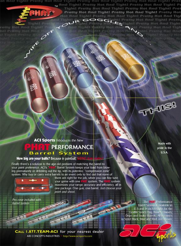 Phat stick paintball barrel