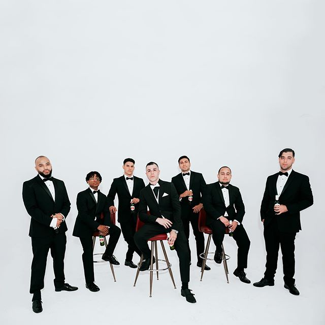 thy squaded upeth 🥃 #groomsmen Location • @acepropsmiami  HMUA • @makeupbykelly  Assistant • @305tilweflood  Vídeo • @vmfphotofilm  Dress • @davidsbridal  Catering • @palaciodelosjugos  Cake • @publix @milamarianaa  Wedding planner • @lavender.laurel.events . . . . #dmargherite #floridawedding #floridaweddingphotographer #elegantwedding #theweddingpic #elopementphotographer #adventurewedding #photobugcommunity #radlovestories #loveandwildhearts #loveauthentic #junebugweddings #authenticlovemag #centralfloridaphotographer #theweddinglegends #destinationwedding #destinationweddingphotographer #destinationelopement #miamiphotographer #muchlove_ig #elopementwedding #miamiphotographer #modernwedding #neonsign #props