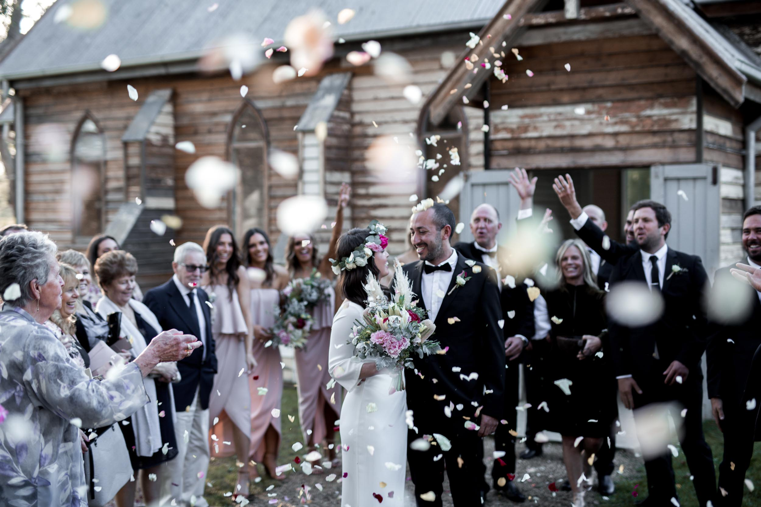 """Caitlin & Vas - Amongst closest family and friends, Caitlin & Vas said """"I do"""" with an intimate bohemian wedding at Tanglewood Estate."""