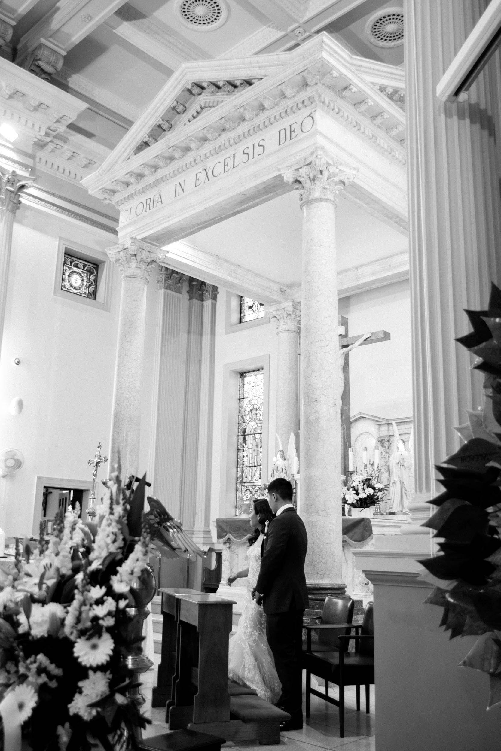 THE CEREMONY - Their ceremony took place in the breathtaking St Josephs Church, the perfect location for a wedding in the suburbs of Sydney. The portrait time following the ceremony was high energy, smoke bombs and fun happy vibes.