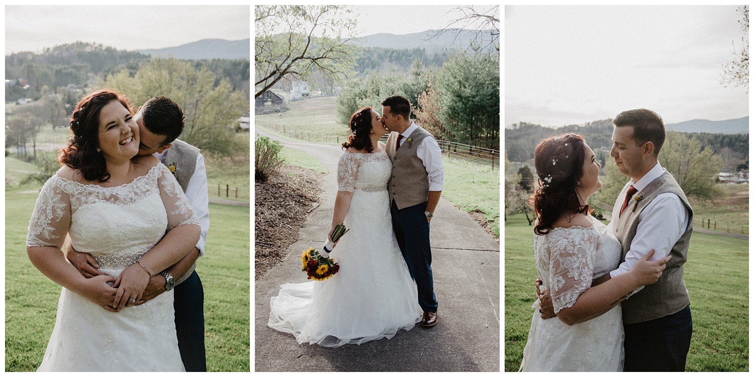 Abigail + Nathan's intimate wedding in Mountain City, Tennessee | adventure wedding portraits in Mountain City | destination wedding photographer | tennessee wedding photographer