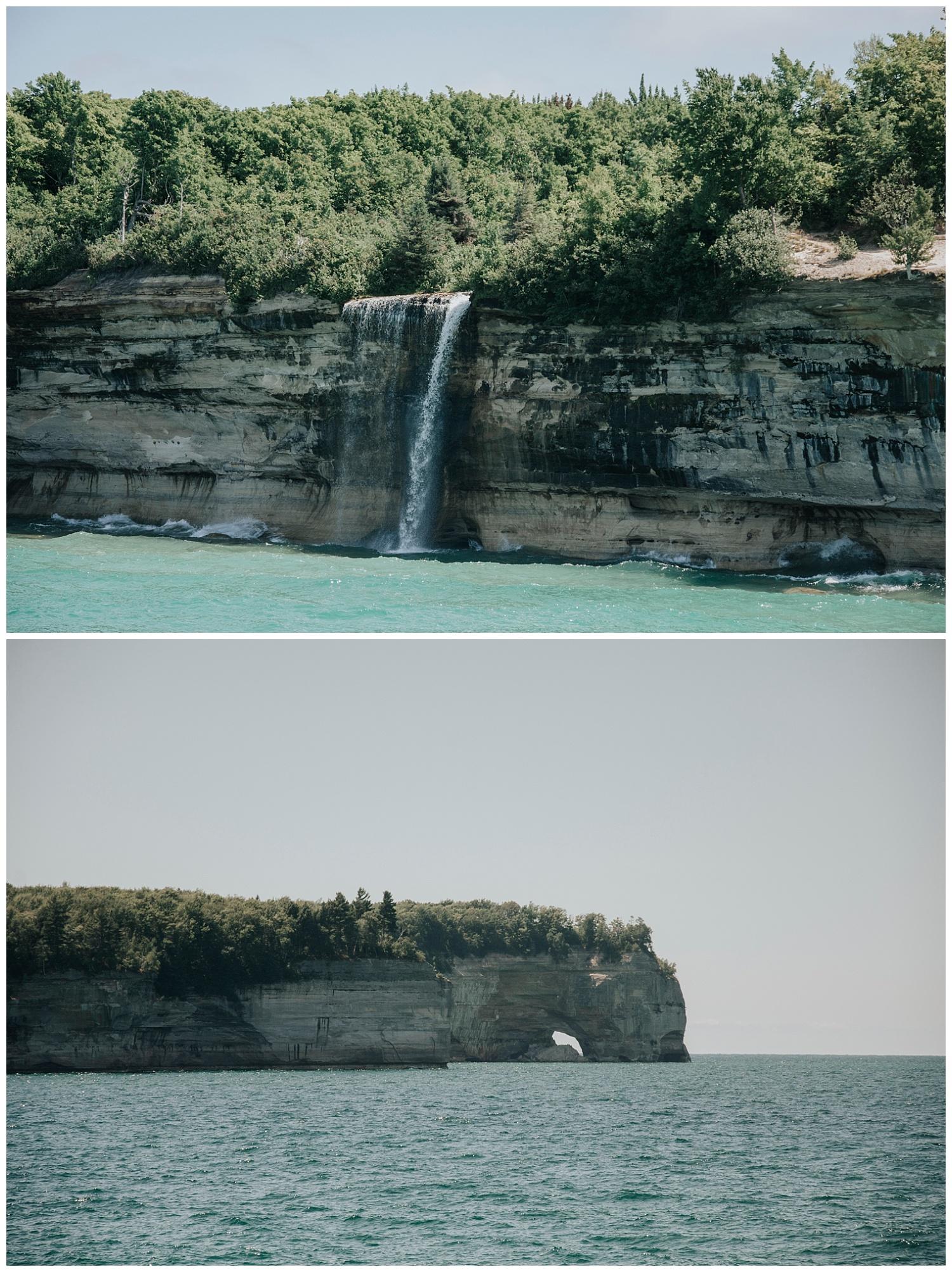 Boating near Munising, Michigan| Pictured Rocks National Lakeshore| Elopement Inspiration| Wild Onyx Photography