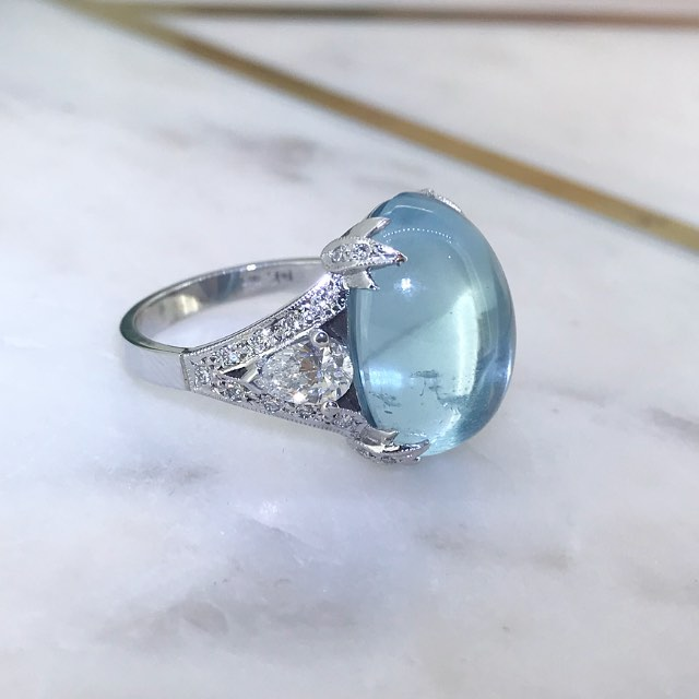 An Aquamarine and diamond bespoke dream for a special client ❤️❤️