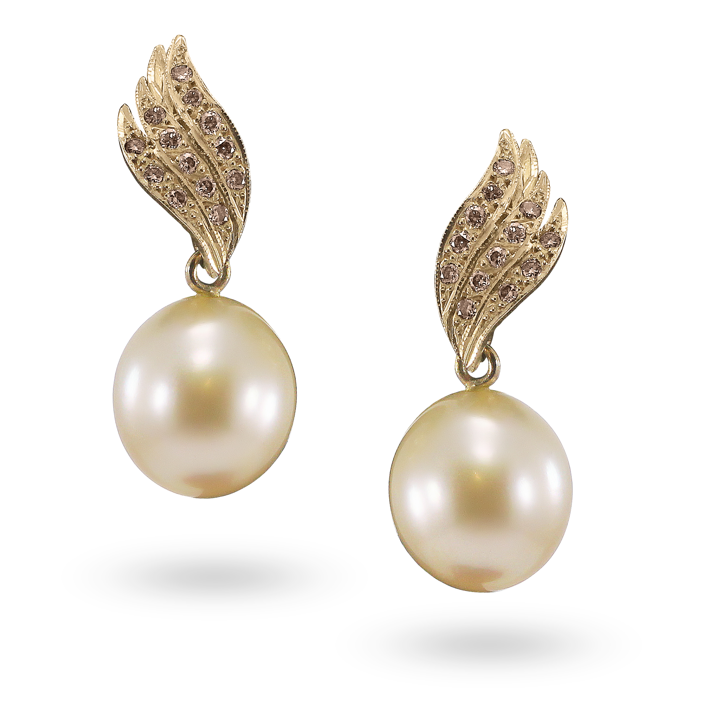 Broome Pearl & Champagne Diamond Earrings.jpg