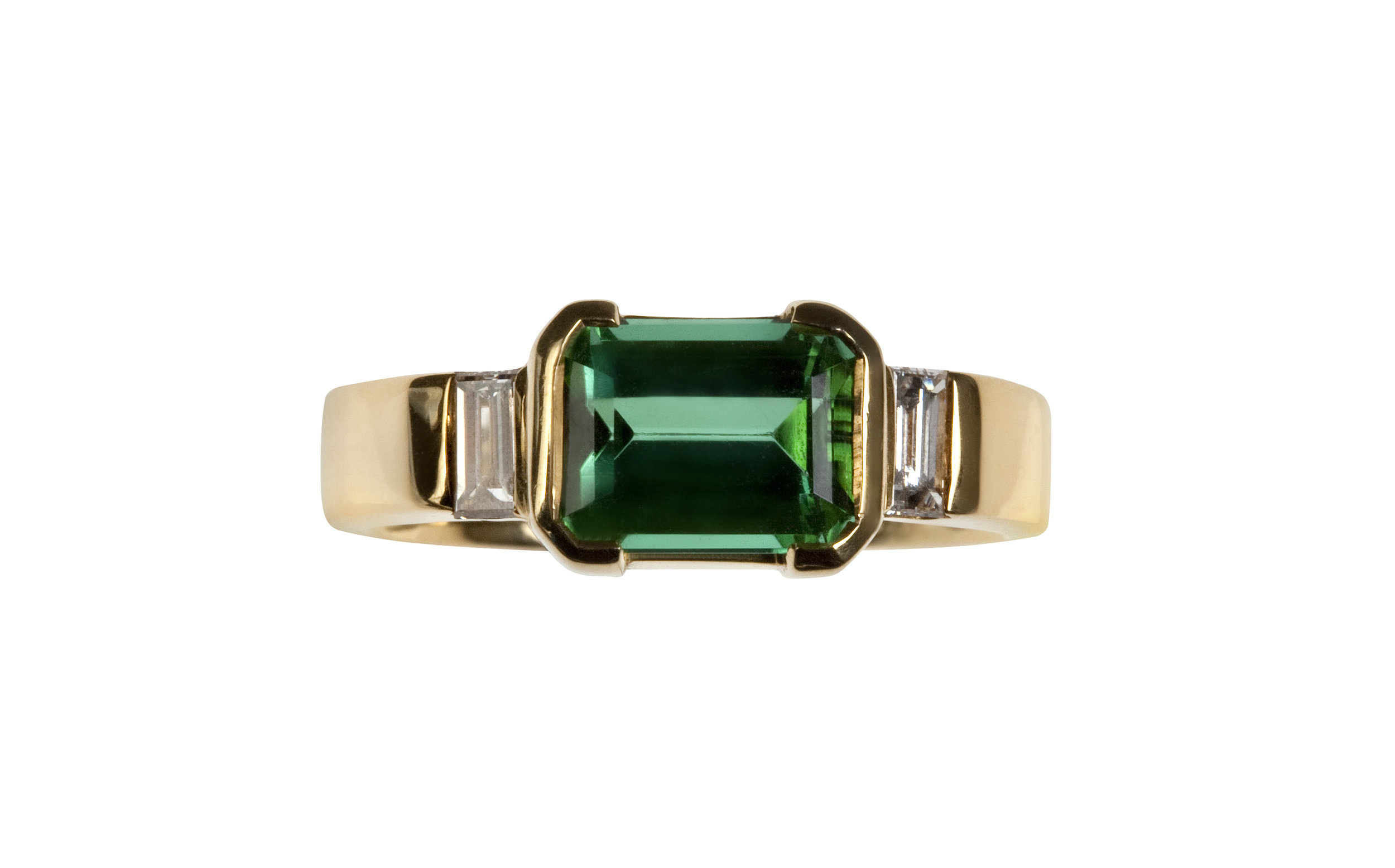 Green Tourmaline and Diamond Ring in 18ct Gold.jpg