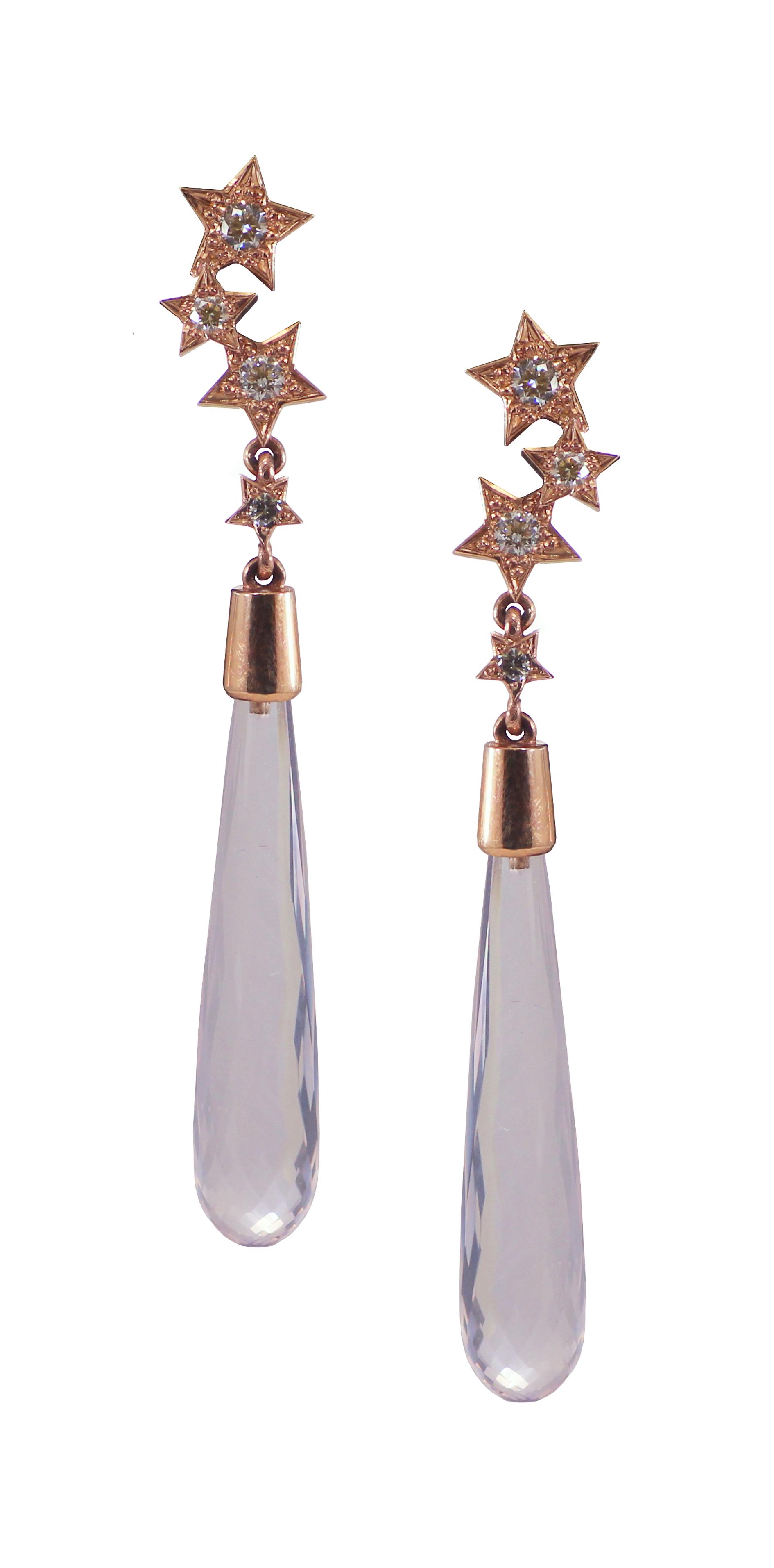 Rose Quartz, Diamond and Rose Gold Earrings.jpg