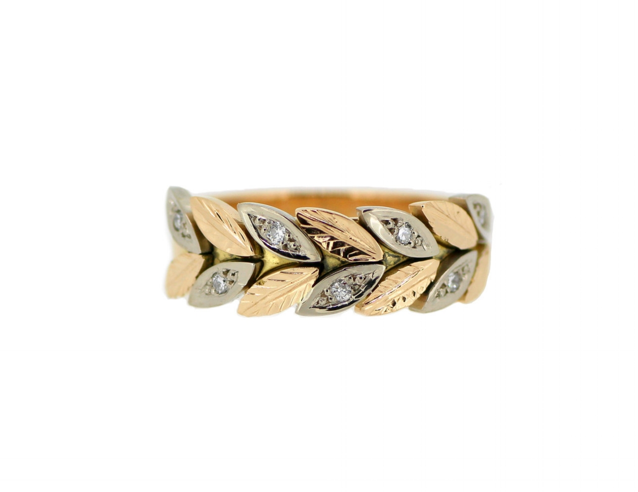 Bespoke Leaf Wedding Ring