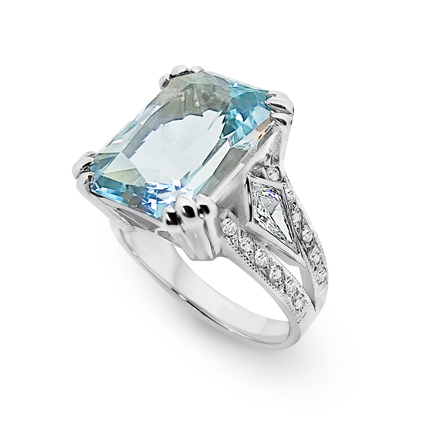 Bespoke Topaz & Kite Diamond Ring